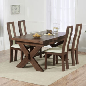 bbc793d4f6 Avalon Dark Solid Oak 160cm Extending Dining Table with 6 Howard Chairs-2672