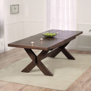 Avalon Dark Solid Oak 200cm Extending Dining Table 2761