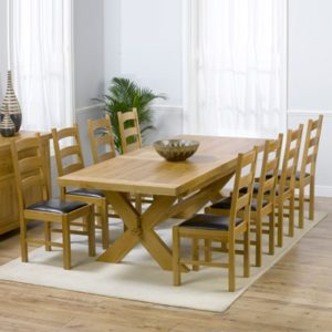 ae029a493a8d Avalon Solid Oak 200cm Extending Dining Table with 8 Venice Chairs-2490
