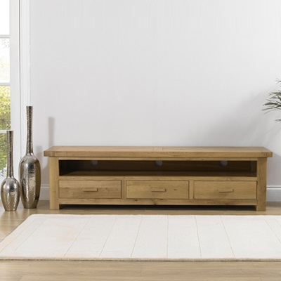 the latest 43ccc 744f0 Avalon Solid Oak Large TV Unit