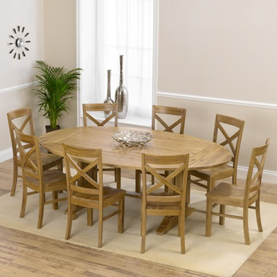 Carver Oak Oval Extending Dining Table With 8 Carver Chairs 3028