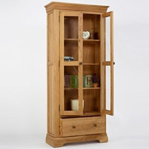 Norbury Oak Display Cabinet-1537