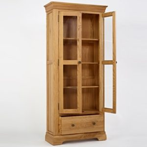 Norbury Oak Display Cabinet-1541