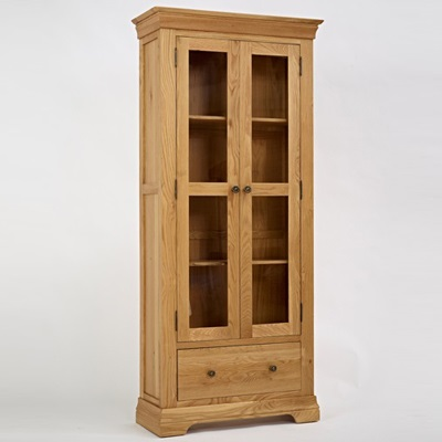 Norbury Oak Display Cabinet-1543