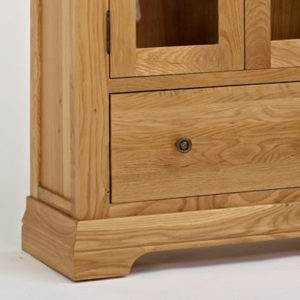 Norbury Oak Display Cabinet-1544
