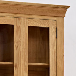 Norbury Oak Display Cabinet-1540