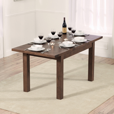 Rozay Dark Solid Oak cm Extending Dining Table with  Croydon