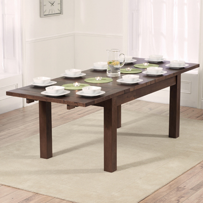 Rozay Dark Solid Oak 150cm Extending Dining Table Robson Furniture