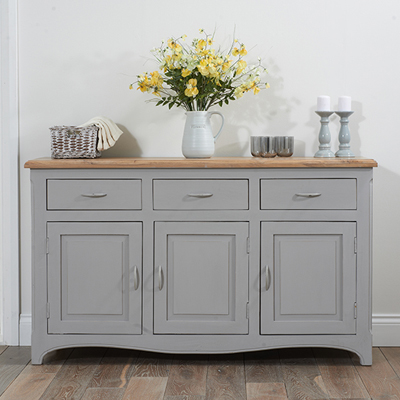 Seville grey painted distressed sideboard robson furniture for Painted buffet sideboard
