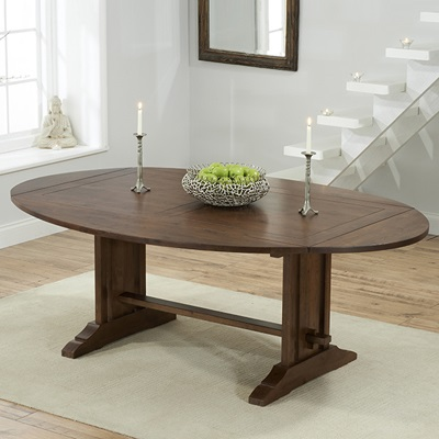 dining sets carver dark oak oval extending dining table with 6