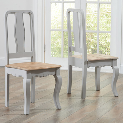 Seville grey painted distressed dining table with 6 chairs - Painted dining tables distressed ...