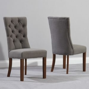 Albany Dark Oak Grey Dining Chair (Pair)