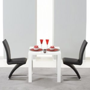 Harvey 80cm high gloss white dining table with 2 milan grey chairs harvey 80cm high gloss white dining table with 2 harvey black chairs 5018 watchthetrailerfo