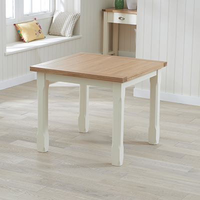Sandiego Oak and Cream 90cm Extending Dining Table Robson Furniture
