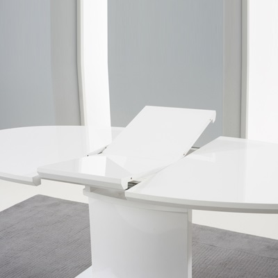 Savana High Gloss Extending Dining Table With 6 Harvey Black Chairs