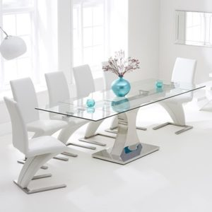 glass dining table 10 seater modern ambrose glass extending dining table with 10 harvey white chairs7457 sets robson furniture