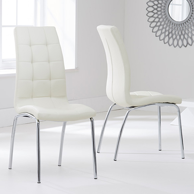 Calgary Cream Dining Chairs Pair Robson Furniture