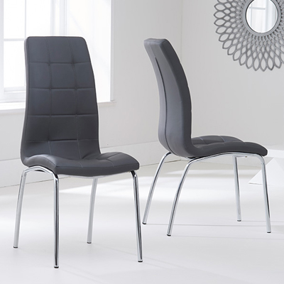 Calgary Grey Dining Chairs Pair Robson Furniture