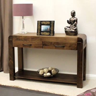 walnut console table. Shiro Solid Walnut Console Table-10462 Table L