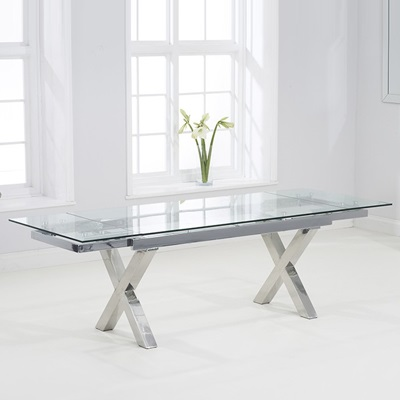 Exceptional Centro Glass Extending Dining Table 7530