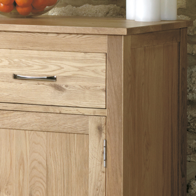 Mobel Solid Oak Small Sideboard Robson Furniture