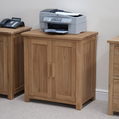 Opal Solid Oak Printer Cabinet 11476