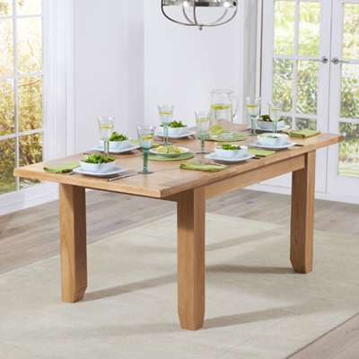 Yorkshire Solid Oak 130cm Extending Dining Table With 6 Henry Charcoal Chairs