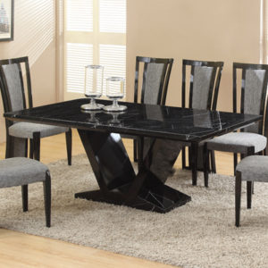 Edison Black Marble Dining Table