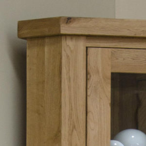 Delano Rustic Solid Oak Corner Display Unit-12174