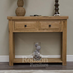 mobel solid oak console. Delano Rustic Solid Oak Console Table-12190 Mobel
