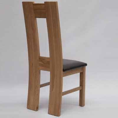 High Back Oak Dining Chair Pair Robson Furniture - Oak dining chairs uk