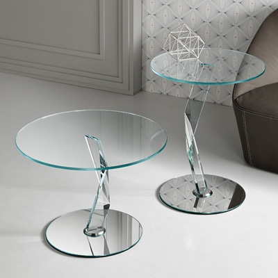 bakkarat 50cm round glass lamp table