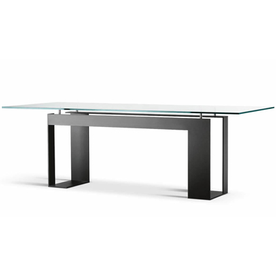 9c0788359ed Miles Black 225cm Glass Dining Table - Robson Furniture