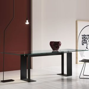 be9464ff90c Miles Black 200cm Glass Dining Table - Robson Furniture