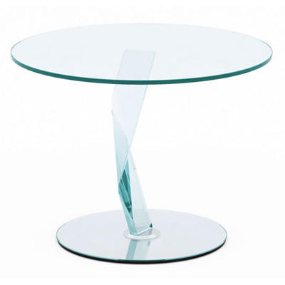 Bakkarat 60cm Round Glass Lamp Table Robson Furniture
