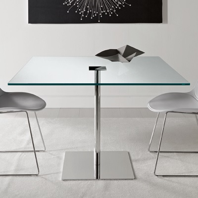 Farniente 90cm Square Glass Dining Table Robson Furniture