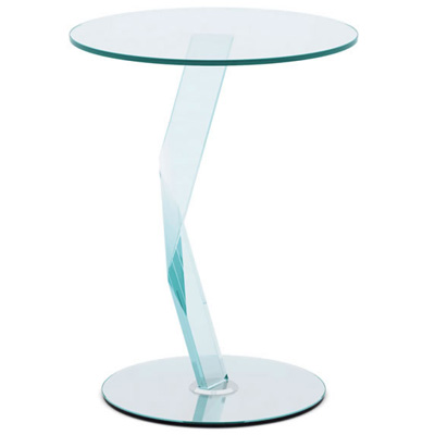 Bakkarat 50cm round glass tall lamp table for Oak lamp table 60cm high