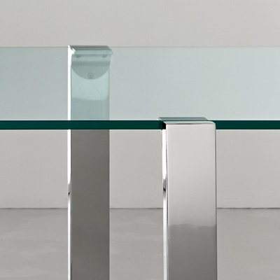 Livingstand 120cm Transparent Glass Dining Table Robson Furniture