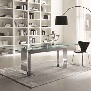 b0f6f7f71a1 Miles Chrome 200cm Glass Dining Table - Robson Furniture