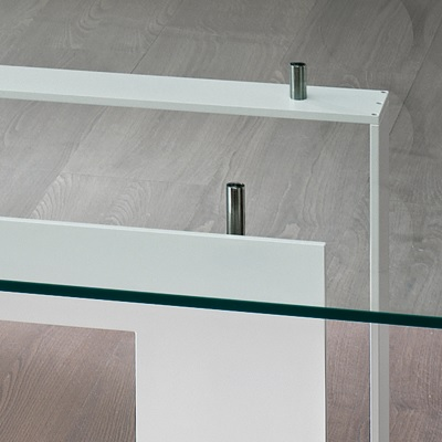 4a4d833d981 Miles White 200cm Glass Dining Table - Robson Furniture