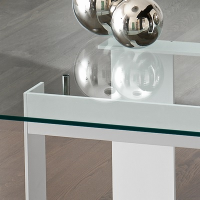 575aecc1122 Miles White 300cm Glass Dining Table - Robson Furniture