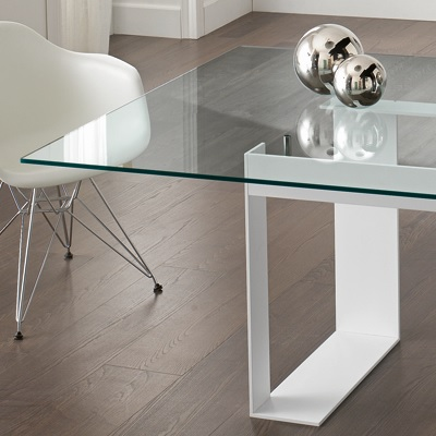 a503dde8012 Miles White 225cm Glass Dining Table - Robson Furniture