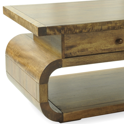 Lotus Mango Coffee Table With Drawer