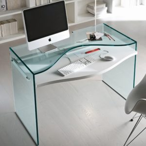 nervi glass office desk. strata glass home office desk23614 nervi desk