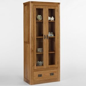 Kingsbury Solid Oak Glass Display Cabinet-14723