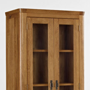 Kingsbury Solid Oak Glass Display Cabinet-14720