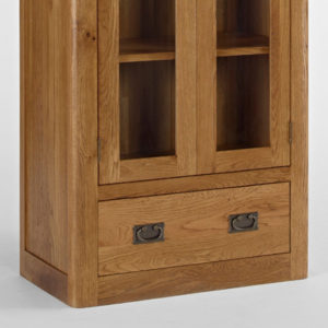 Kingsbury Solid Oak Glass Display Cabinet-14721