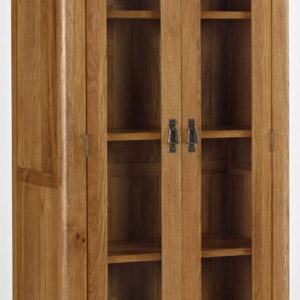 Kingsbury Solid Oak Glass Display Cabinet-14724