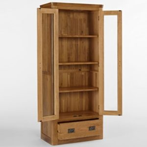 Kingsbury Solid Oak Glass Display Cabinet-14722