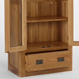 Kingsbury Solid Oak Glass Display Cabinet-14719